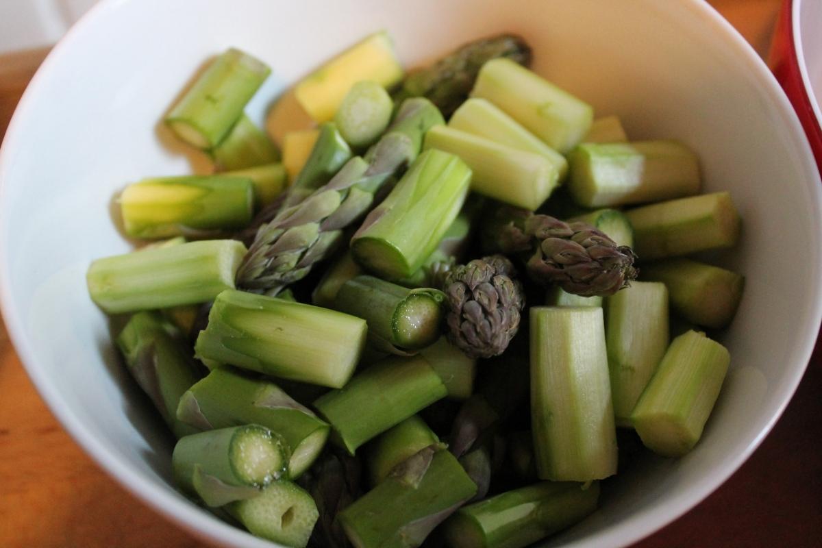 Risotto mit grünem Spargel & Schinken