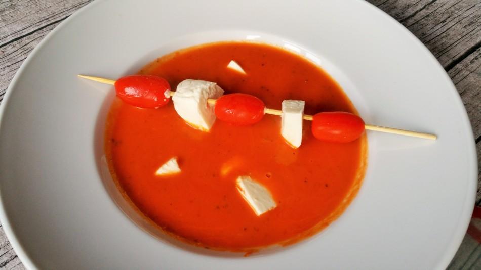 Tomatensuppe mit Gin