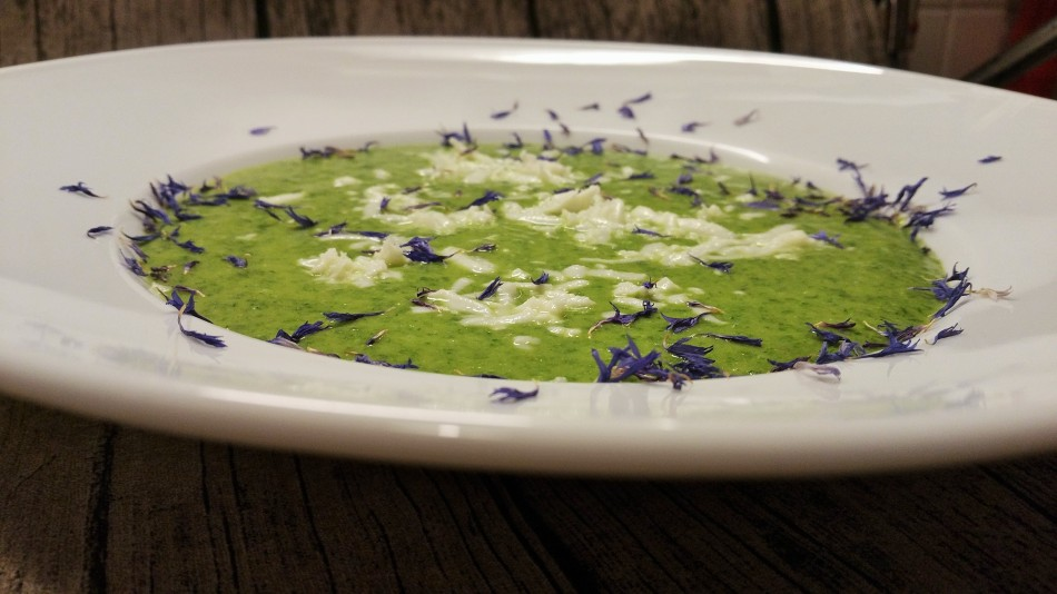 Die Suppe ist gelungen. Köstlich, so schmeckt der Frühling.