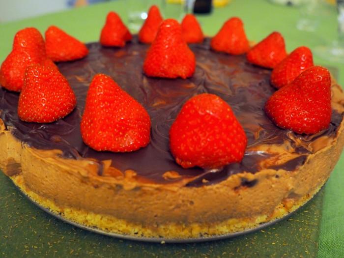 Schoko-Erdbeer-Cheesecake