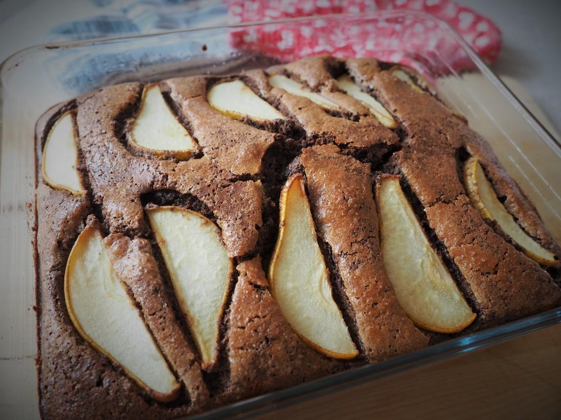 Schoko-Mohn-Birnen Kuchen