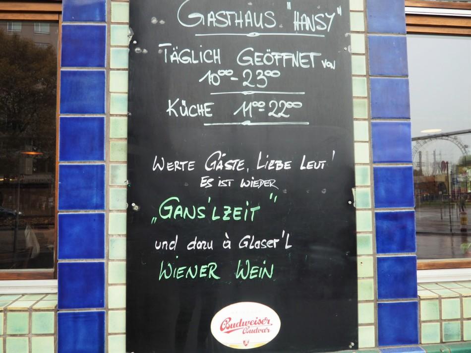 Ganslessen im Gasthaus Hansy