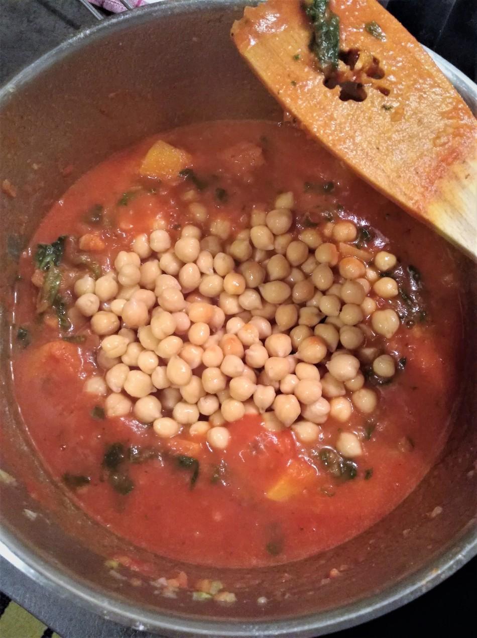 Kürbis Kichererbsen Stew